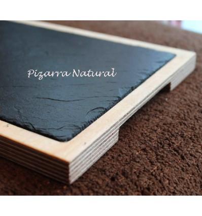 Promoción 3 Tablas madera y pizarra 42x22cm